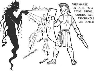 La fe es un arma contra los dardos del maligno